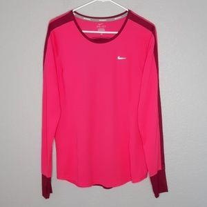 Nike Hot Pink & Purple Longsleeve Lightweight Tee